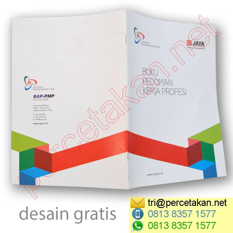 Booklet terbuka