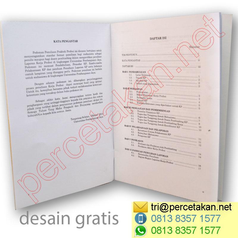 Bagian daftar isi booklet
