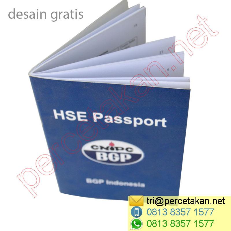 Cetak Buku HSE Passport