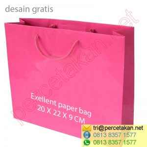 Cetak Shopping Bag 20x22x9-cm