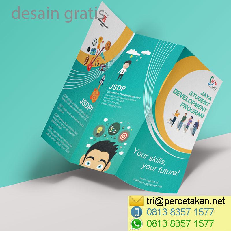 Desain brosur UPJ