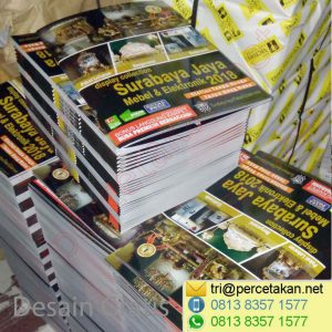 Tumpukan katalog Furniture untuk packaging