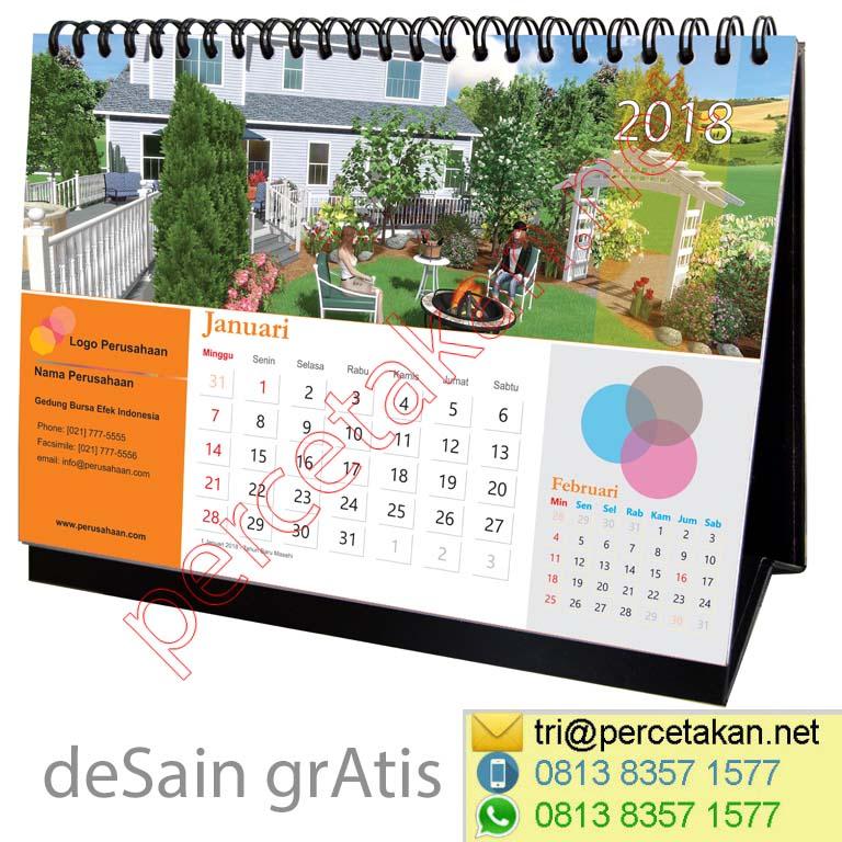 Contoh Kalender Meja Lanscaping