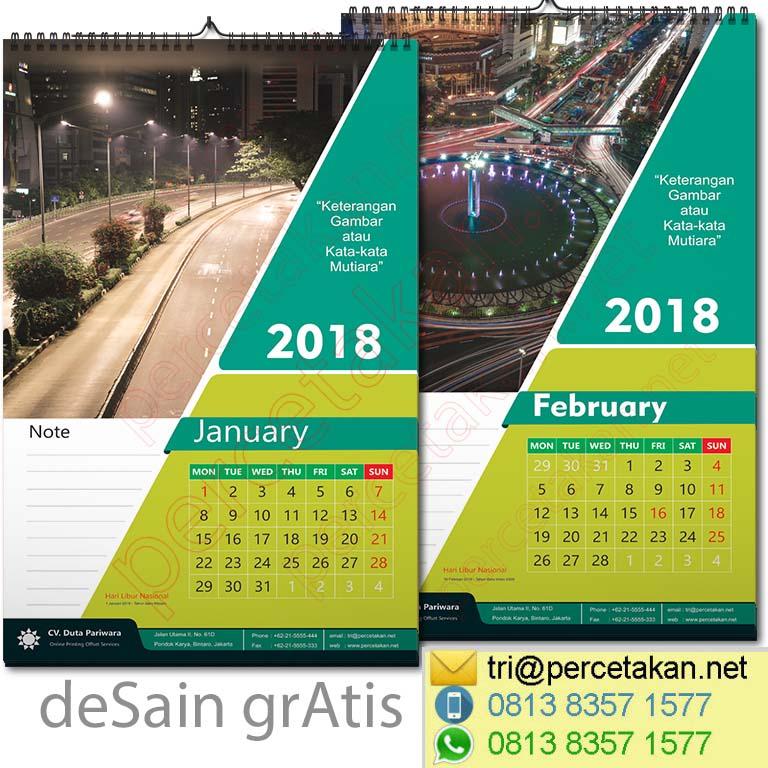 Contoh Desain dan cetak Kalender