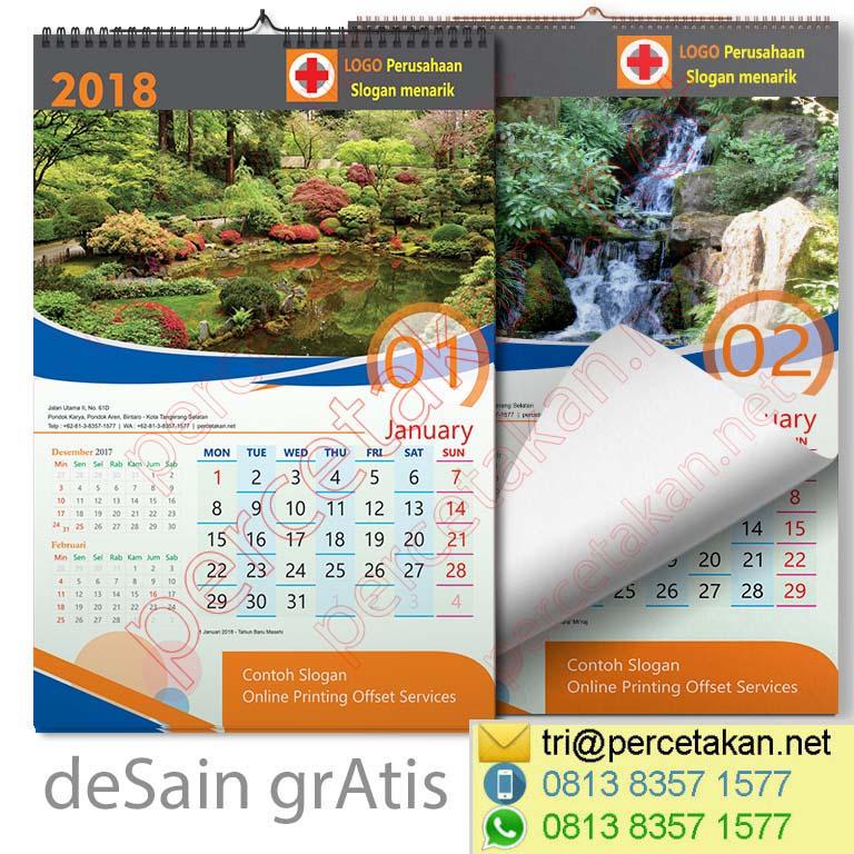 Keindahan taman jepang di Kalender