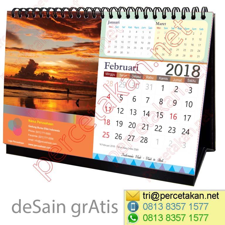 Contoh Kalender Meja Desain Bali