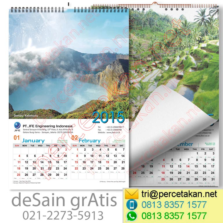 Desain dan cetak kalender dinding 1