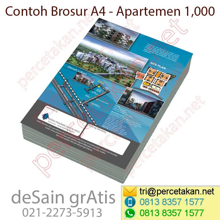 Desain dan cetak brosur apartemen 5