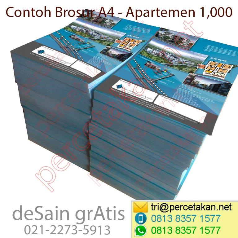Desain dan cetak brosur apartemen
