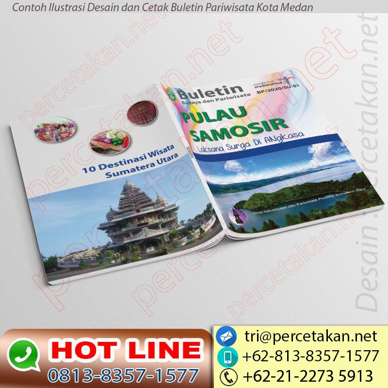 Desain dan cetak buletin Dinas Pariwisata Kota Medan